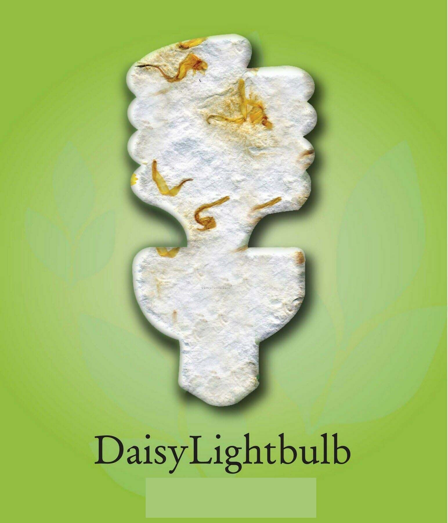 Daisy Lightbulb Ornament With Embedded Seed