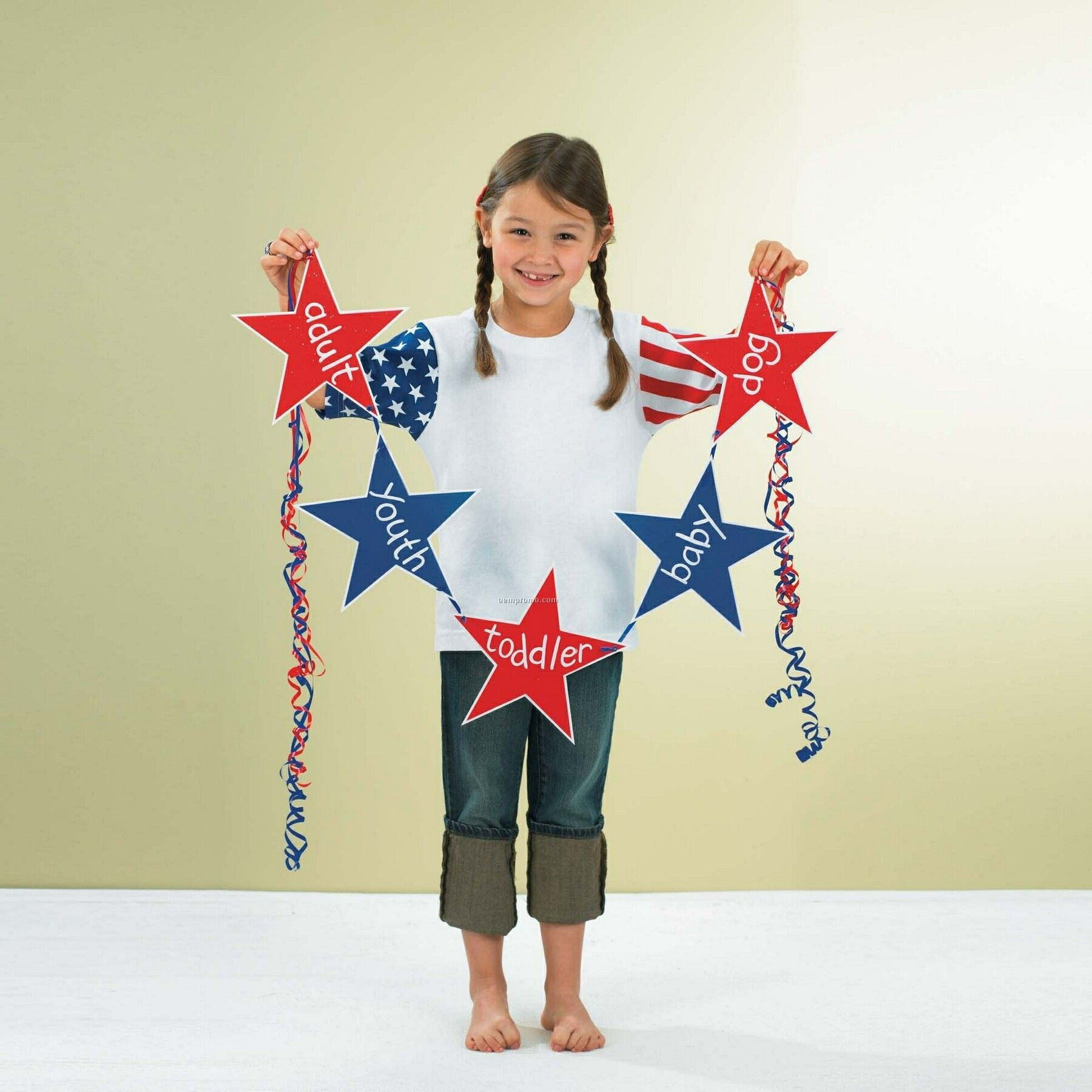 Infant Jersey Stars And Stripes Romper
