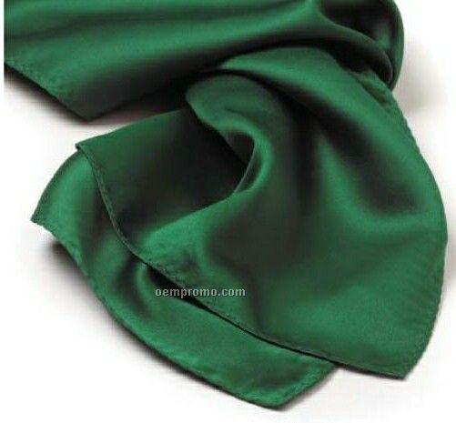"Wolfmark Solid Series Kelly Green Silk Scarf (45""X8"")"