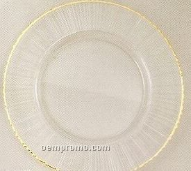 Elegance Turkish Glass Ray/ Gold Rim Charger - Set Of 4