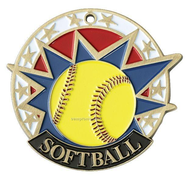 "Medals, ""Softball"" - 2"" Usa Sports Medals"