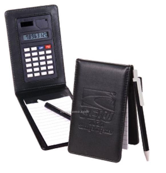 Memo Pad Holder W/Jotter Pad & Calculator