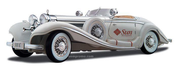 """9"""" White 1936 Mercedes-benz 500k Type"""