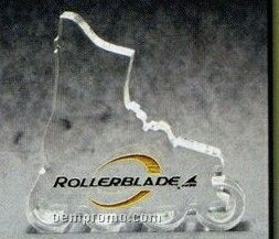 Acrylic Paperweight Up To 20 Square Inches / Rollerblade