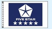 Dealers Choice Checker Drape Flag - Five Star Blue