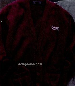Edwards Men's V-neck Cardigan Sweater W/ 2 Pockets
