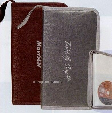 Hard Cover 48 CD Case W/ Strap