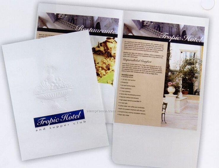 Loose Pocket Folder With 1 Unglued Pockets & Self-assemble Tab
