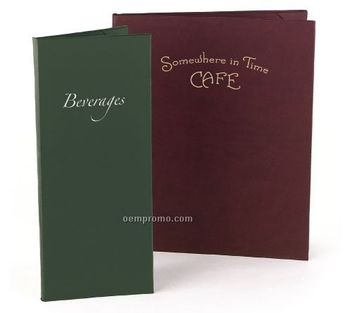 """Majestic Soft Touch Menu Cover - Six View/Book Style (4 1/4""""X11"""")"""