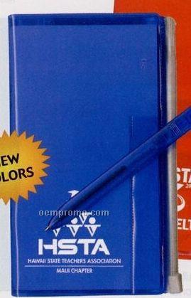 Address Book W/ Zip Back Planner & Matching Pen