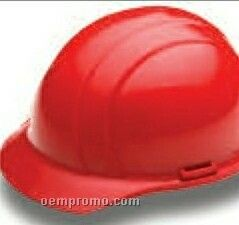 Americana Cap Hard Hat W/ 4 Point Slide Lock Suspension - Hi Viz Yellow