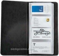 Executive Leather Business Card Holder Portfolio