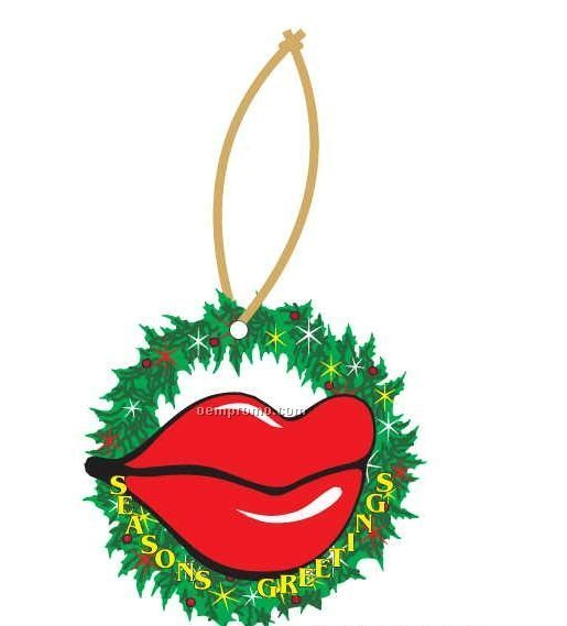 Lips Executive Wreath Ornament W/ Mirrored Back (4 Square Inch)