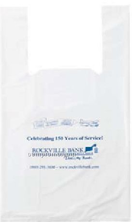 "T-shirt Style White Bag - 2.75 Mil Polyethylene (12""X7""X22"")"