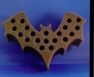 20 Hole Seasonal Foam Rack For Test Tubes - Halloween Bat