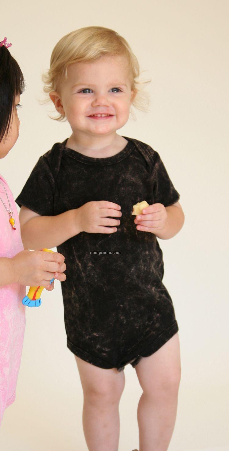 Infants Vintage Wash Lap Shoulder Body Suit (6m-24m)