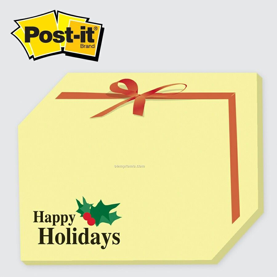 Medium Holiday Package Post-it Die Cut Notepad(25 Sheets/2 Color)