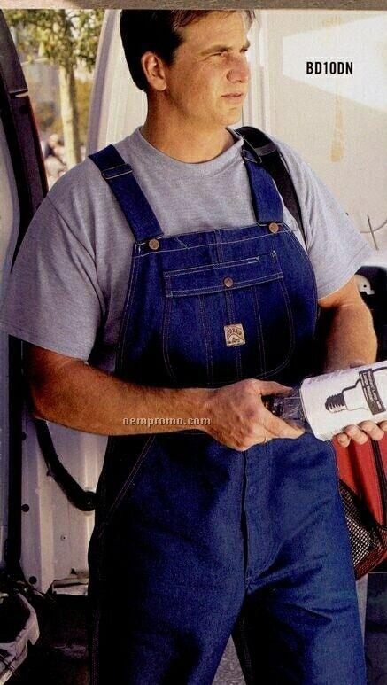 Men's Rigid Indigo Blue Utility Bib Overall (Size 30-56)
