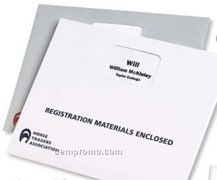 "White Heavyweight Registration Envelopes W/ Window - 1 Color (13""X10"")"
