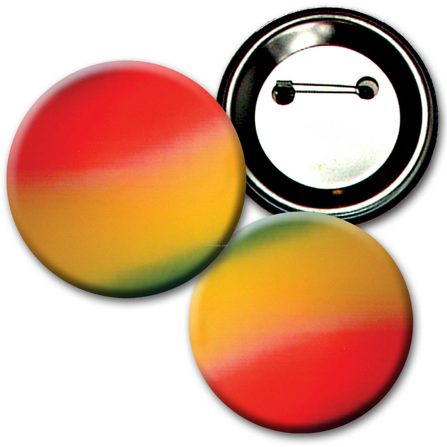 """2"""" Diameter Buttons W/Changing Colors Lenticular Effects (Blanks)"""
