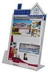 """Brochure Holder - House Shaped- Holds 8 1/2""""W Literature"""
