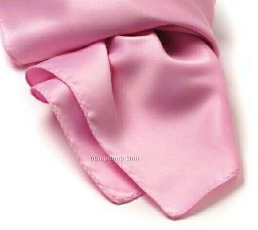 "Wolfmark Solid Series Pink Silk Scarf (45""X8"")"