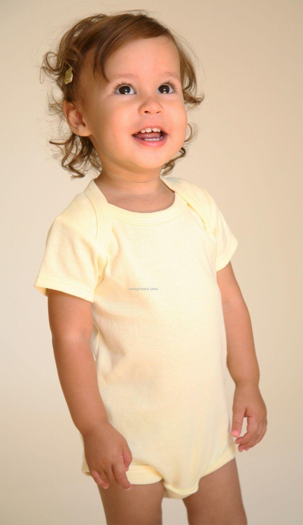 Infants Short Sleeve Lap Shoulder Body Suit (6m-24m)