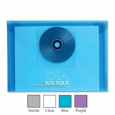 Translucent Registration Envelope W/ CD Pocket & Snap Closure - Blank