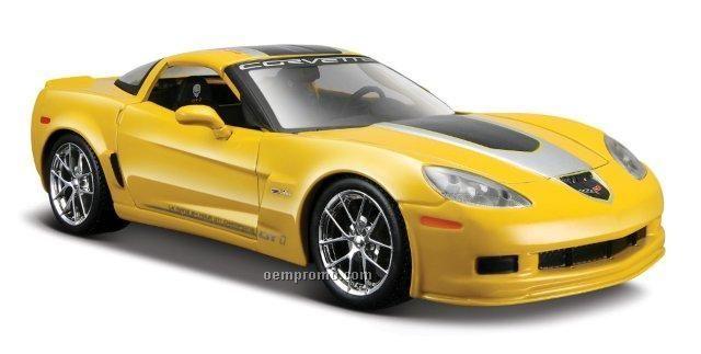 """7""""X2-1/2""""X3"""" 2009 Corvette Z06 Die Cast Replica Sports Car"""