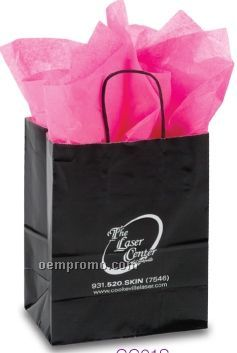 "Hot Stamped Tinted White Paper Shopping Bag (16""X6""X12"")"