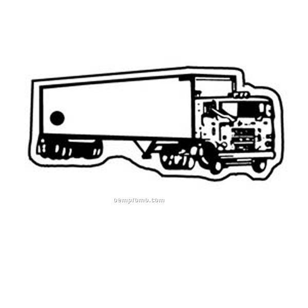 Semi Truck Outline Semi Truck 2 Key Tag