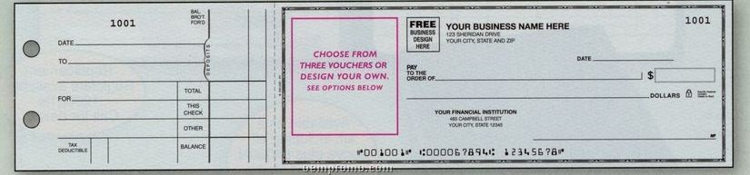 Empty Voucher 3-on-a-page Check (2 Part)