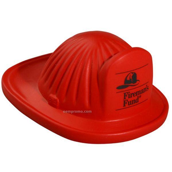 Fire Helmet Squeeze Toy