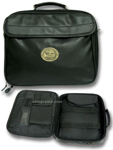 Leatherette Laptop Case W/ Logoed Medallion (Die Struck)