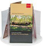 "Brochure Holder- Rotating (3) Pocket- Holds 5 1/2""W Literature"