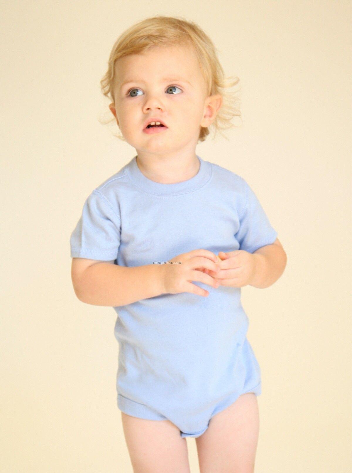 Infants Short Sleeve Scoop Neck Body Suit (6m-24m)