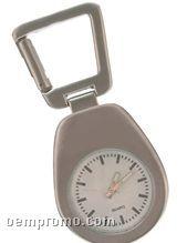Quartz Analog Clock W/ Carabiner Clip (Laser Engraving)