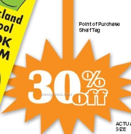 """Custom .015"""" Thick Vinyl Plastic Sign/ Bookmark/ Tag (42 To 56 Sq. Inch)"""