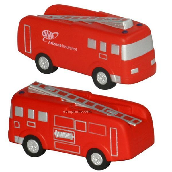 Fire Truck Squeeze Toy