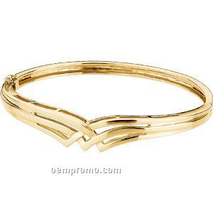 Ladies' 14ky Hinged Bangle Bracelet
