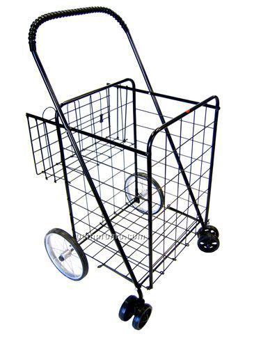 Large Shopping Cart With Rear Basket