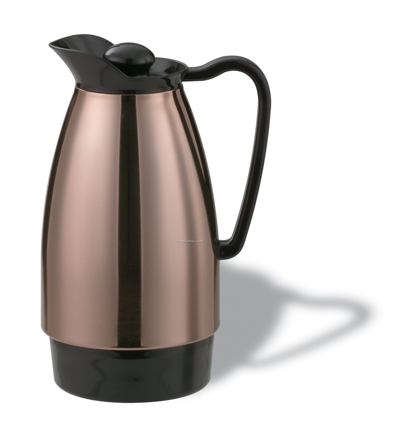 1 Liter Classic Glass Carafe Stainless Steel (Black)