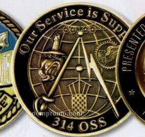 "3-1/2"" Die Struck Medal/ Coin (2.5 Mm)"