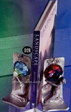 3d Sculpted Bookends With Swarovski Crystal
