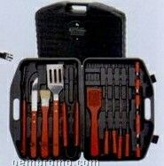 Bbq Set W/ Spatula/ Skewers/ Carving Knife In Pvc Case