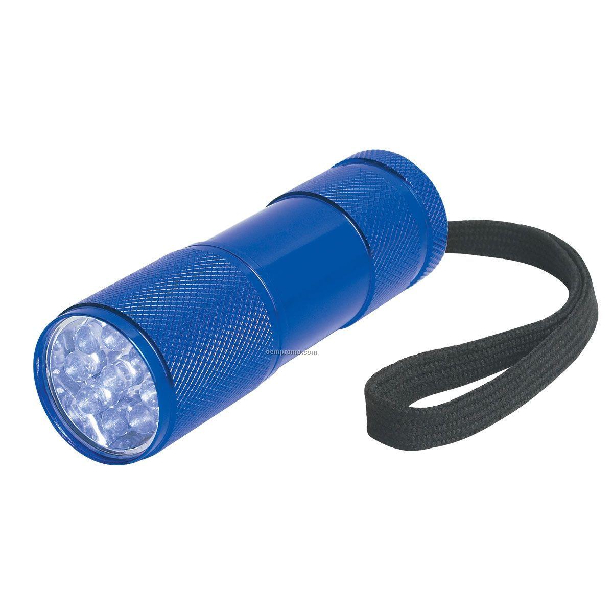 Blue Chunky 9 LED Flashlight