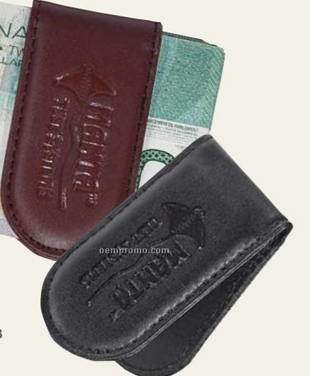 Bonded Leather Magnetic Money Clip
