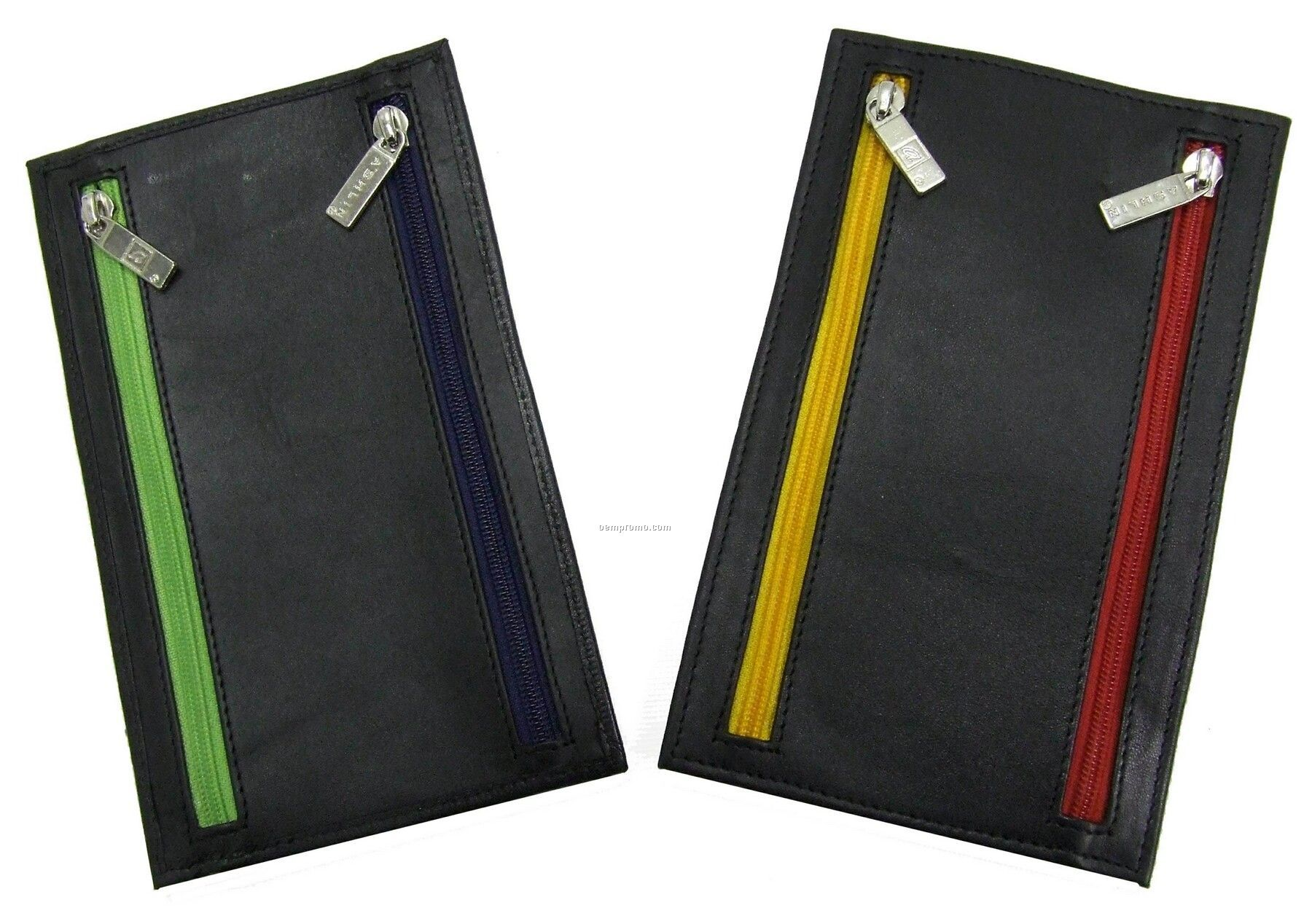 Napa Lambskin 4 Zipper Currency Wallet