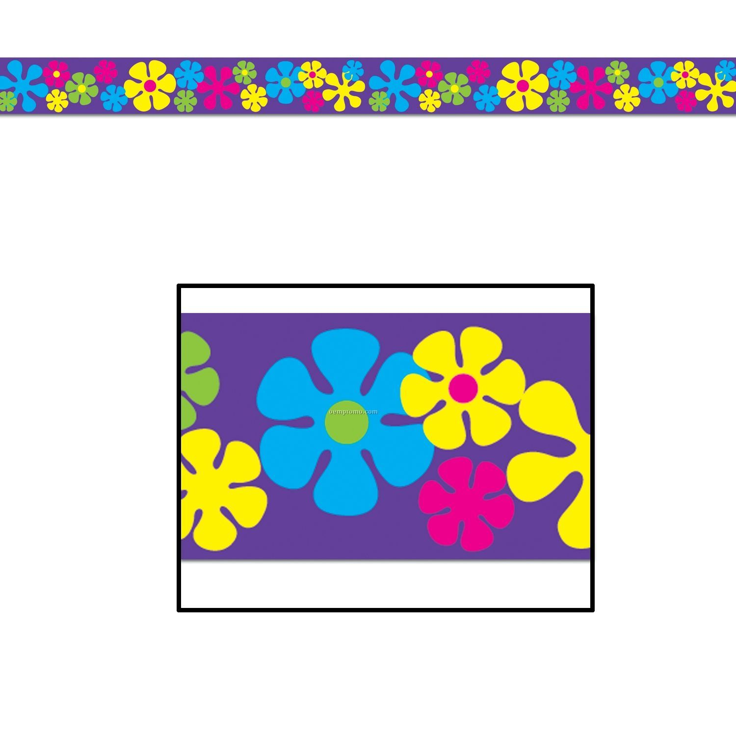 Retro Flower Party Tape