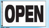 Stock Message Checker Drape Flag - Open